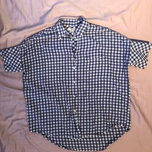 Blue Gingham Collared Madewell Shirt